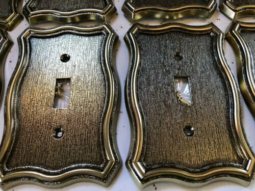 12pc Gold Victorian Solid Heavy Metal antique Vintage style Switch Covers outlet