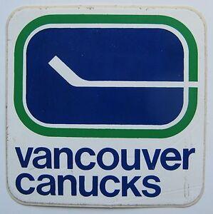 Vancouver Canucks Toyota Sticker (circa 1970-1979)