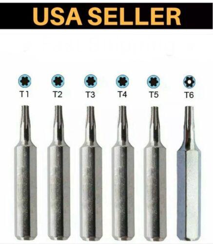 Micro Torx Driver Bits Set T1,T2,T3,T4,T5,TR6 T6 Security Torque Star Repair