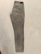 Women's Levi's Gray Jeans-Demi Curve-Modern RIse-Skinny Leg-Sz 30