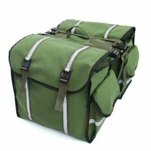 Bike Bicycle Cycling Saddle Trunk Bag Double Side Rear Seat Rack Pannier Bag