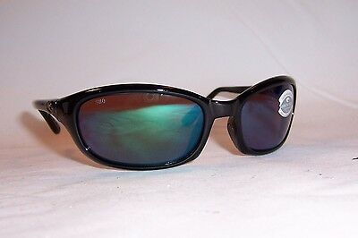 NEW COSTA DEL MAR HARPOON SUNGLASSES BLACK//GREEN POLARIZED 580G $249 AUTHENTIC