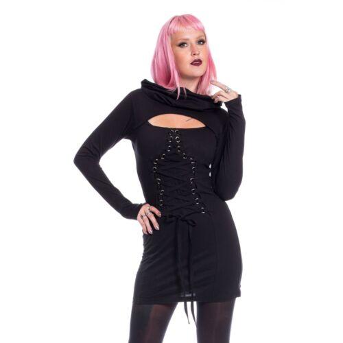 Poizen Industries Last Faith Top Ladies Black Goth Emo Punk
