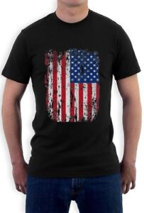 4th-of-July-Vintage-Distressed-USA-Flag-Men-039-s-T-Shirt-American-Independence-Day