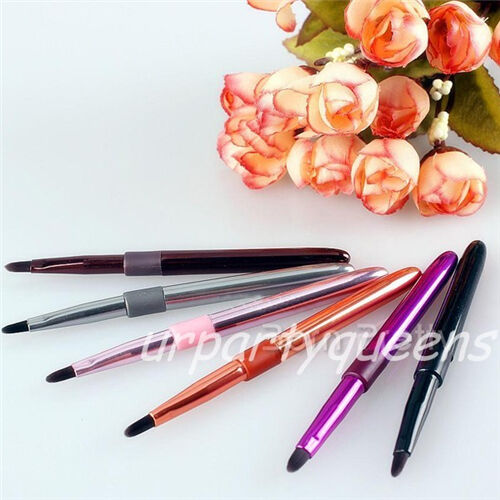 1Pc Mini Rose Red Pink Black Silver Orange Lip Gloss Brush Eyeliner Makeup Brush