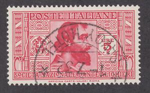 Italy-Sc-278-used-1932-5l-2l-carmine-rose-Ludovico-Ariosto-sound-VF