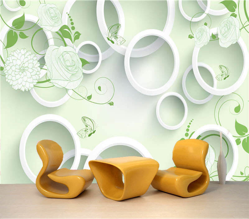Disc And Rose 3D Full Wall Mural Photo Wallpaper Printing Home Kids Decoration