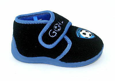 Infants Childrens Kids Boys Girls Football Club Boots Strap Slippers Size 3-10