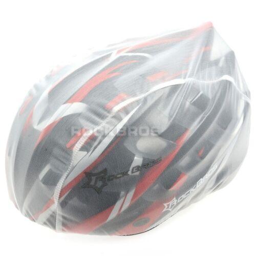 RockBros Windproof Dust-proof Rain Cover MTB Road Bike Helmet White