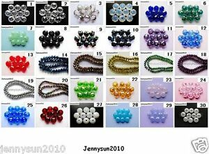 Freeshipping-100Pcs-Top-Quality-Czech-Crystal-Faceted-Rondelle-Beads-4x-6mm-Pick