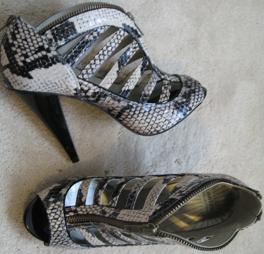 M&S Zip 4.5-£35.00 front High Heel Bota/Zapatos(Nuevo)Talla 4.5-£35.00 Zip bddbb1