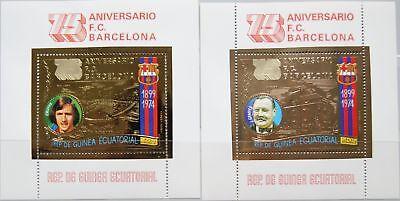 Willensstark Equatorial Guinea 1974 Block 136-37 Soccer Club Fußball Football Barcelona Mnh Sport & Spiel