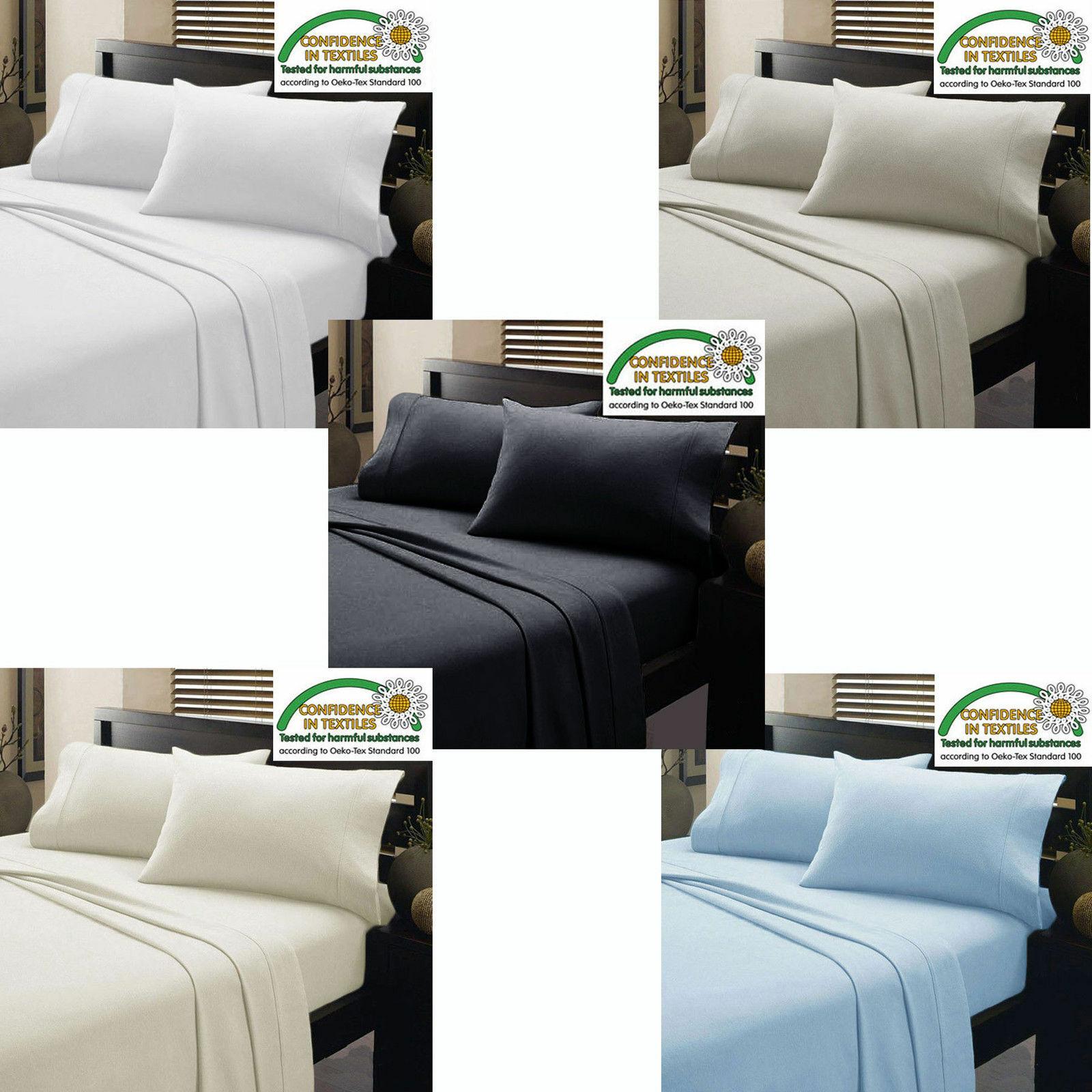 Luxury Sheet Set Full-XL Size Multi colors 800 Thread Count 100% Cotton 4 PCs