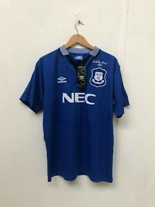 Everton-FC-Umbro-Men-039-s-1995-FA-Cup-Final-Shirt-L-Blue-Sigurdsson-18-New