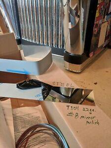 Seeburg Jukebox Mirror Steel Foot Kit for Model 100C.
