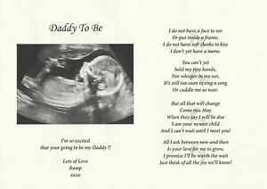 Image Is Loading A4 Personalised Daddy To Be Verse Poem Gift
