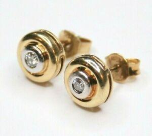 Ohrringe-585-Gold-Gelbgold-Weisgold-Ohrstecker-mit-0-10-ct-Diamanten