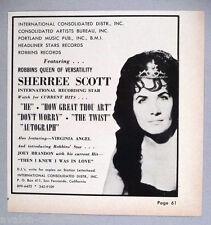 Sherree Scott PRINT AD - 1965