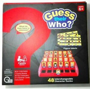 Details about Guess Who? Classic Grid Board Family Fun Game School Camping  2 Players