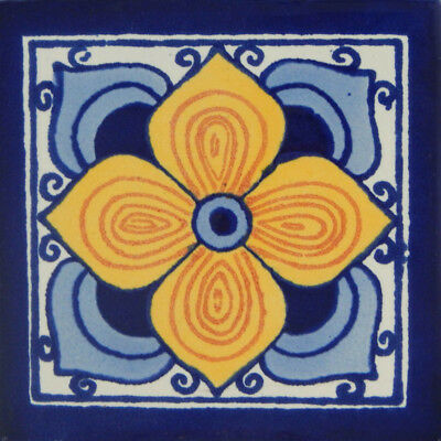 50 Mexican Talavera tiles 4x4 Decorative Folk Art Handmade C248