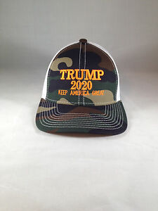Trump 2020 Keep America Great Camo Mesh Back Hat Structured MAGA USA ... e8f40485c08