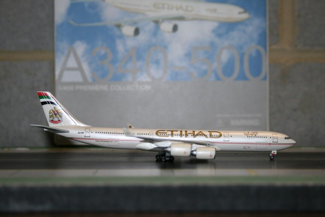 Dragon Wings 1 400 Etihad Airbus A340-500 A6-EHA (55981) Die-Cast Model Plane