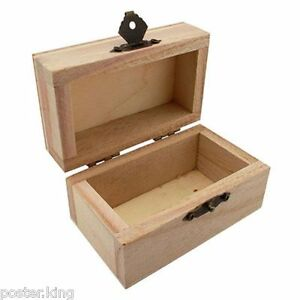 Craft-Natural-Wood-Earrings-Rinds-Jewelry-Gem-Treasure-Wooden-Chest-Box