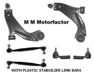 FOR FORD MONDEO MK3 FRONT WISHBONES SUSPENSION ARMS TRACK ROD ENDS PLASTIC LINKS