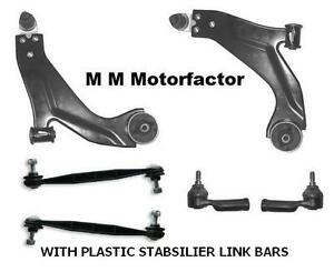 FORD MONDEO MK 3 00-07 TWO FRONT LOWER WISHBONE SUSPENSION ARMS /& 2 DROP LINKS