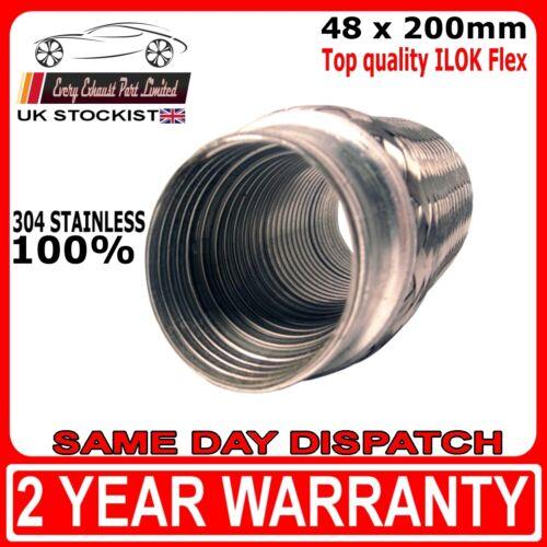 "x 200mm Universal ILOK Flexi Joint for Exhaust Repair 48mm 1/""7//8 8/"""
