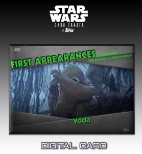 2019 GALAXY AT WAR  RED BASE YODA Star Wars Card Trader Digital