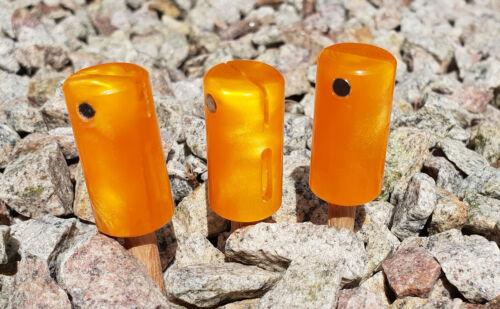 Un ensemble de 3 Fatz Orange Canettes Head libertin Hanger Custom Indicator Carp