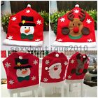 Santa Claus Elk Snowman Christmas Decoration Home Kitchen Chair Covers