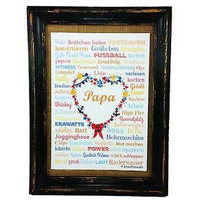 PAPA-Vatertag-Geburt-Poster-A4-Druck-Geschenk-Babyshower-Babyparty-Hochzeit