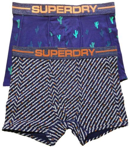 BOXER Superdry tutte le taglie Tutte le Taglie stampe blu #SUMMER CONFEZIONE DA 2x