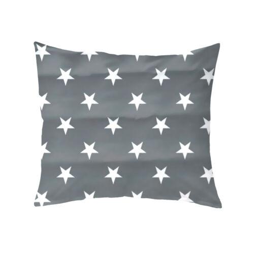 F2F Renforce Kissenbezug Sterne Stars Sand Grau 40x80 80x80 40x40 cm