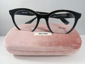 336c116e7898 Miu Miu Women s Black Glasses with case VMU 09N 1AB-1O1 50mm ...