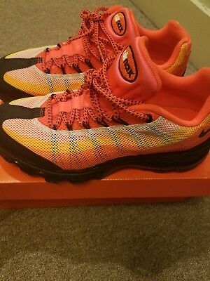 Nike Air Max 95 360 Dynamic Flywire Orange Black Running Shoe 487982 Mens 9 | eBay