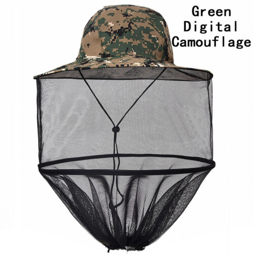 1PC Mesh Bug Head Net Camping Midge Insect Protector Mosquito Hat  Face Cap HD3Z