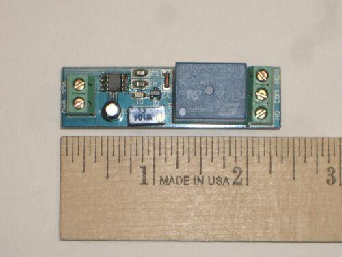 MPJ 31807RL Time Delay Relay Module 0-10Sec Delay on Make 5VDC SPDT 10AMP