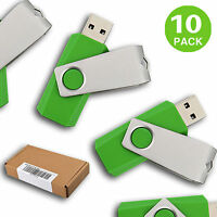 10 Pack Usb 2.0 Flash Drivs Enough Storage Memory Sticks Flash Pen Drives Thumb