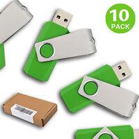 10 Pack Usb 2.0 Flash Drivs Enough Storage Memory Sticks Flash Pen Drives Thumb