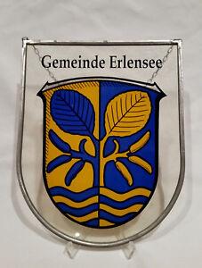 Fensterbild-Erlensee-Wappen-Fliegerhorst-Army-Tiffany-Hessen-Main-Kinzig-Kreis