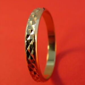 SIZE 4-13 14KT GOLD PLATED SMOOTH  WEDDING  BAND UNISEX 3MM RING