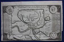 ORIGINALE Antico Mappa/Piano Antica Roma, Roma, Isaac Basire, 1747