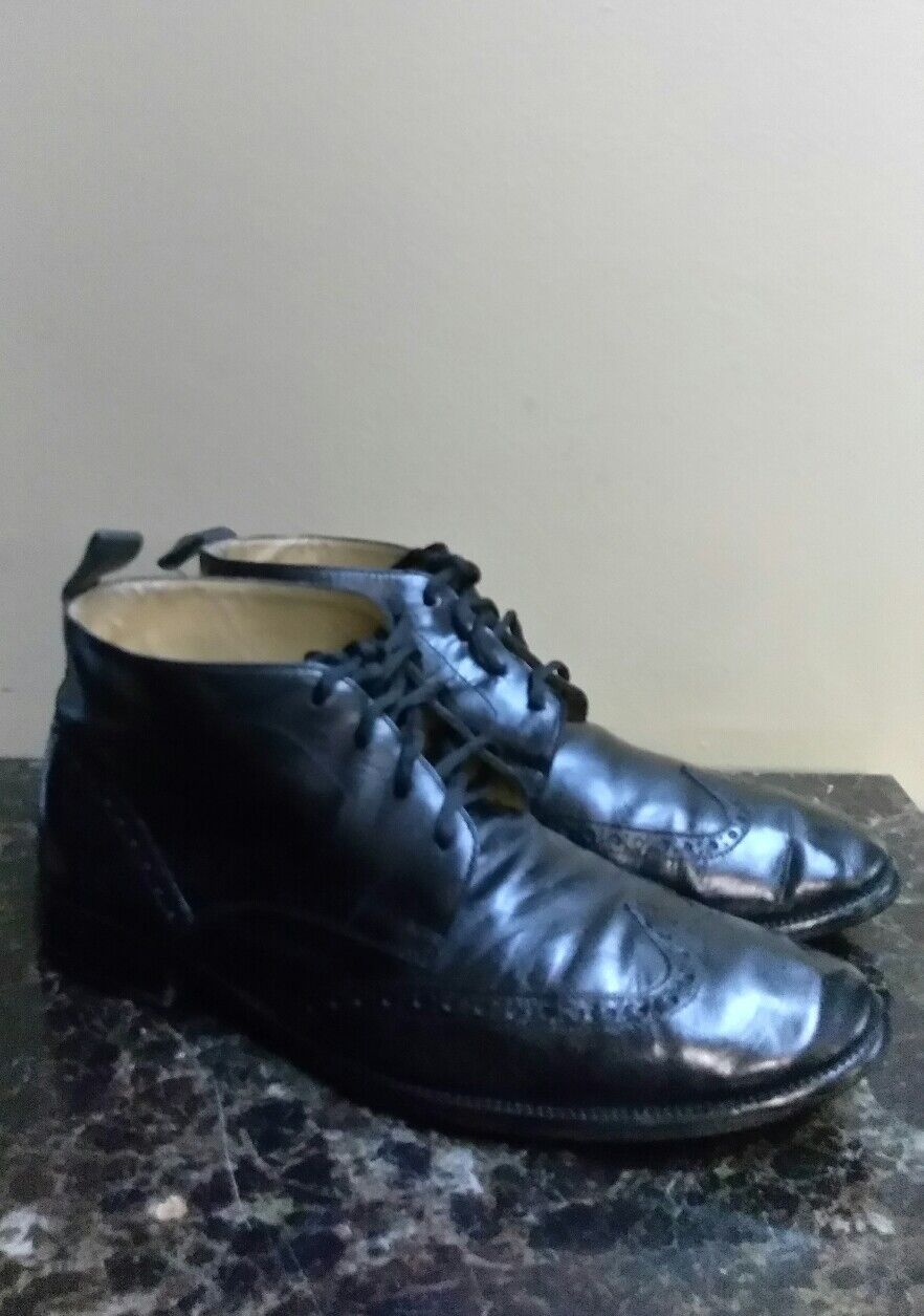 Cole Haan Williams Wingtip Chukka Black Boot Size 10.5 M C12673 USED RT  188