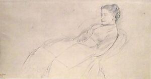 EDGAR DEGAS 1834-1917 VINTAGE GEORGE AURIOL LITHOGRAPH PRINT PORTRAIT DE FEMME