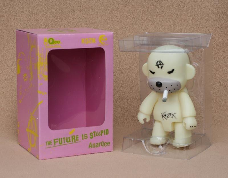 Frank Kozik SIGNED Toy2R 8  Anarqee Glow in Dark Monkey Qee LE AUTOGRAPHED NIB