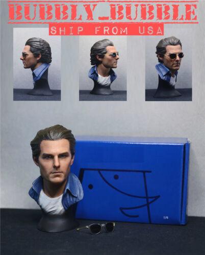 1//6 Tom Cruise Head Sculpt Avec Lunettes De Soleil Base pour Hot Toys PHICEN figure masculine