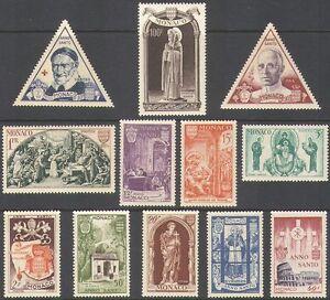 Monaco 1951 Holy Year/Pope Pious/Church/Saint/Art/Religion/People 12v set n39107